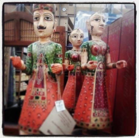 Hand carved Indian figurines